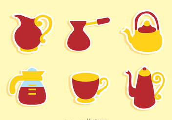 Coffee Pot And Cup Sets - vector gratuit #336753