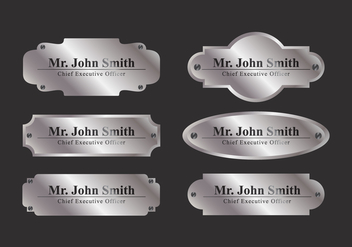 Vector Name Plate - vector gratuit #336763