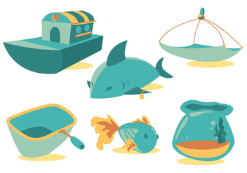 Fishing Net Vector Set - Free vector #336773
