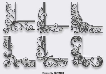 Ornamental Corners - vector gratuit #336833