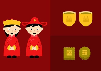 Chinese Wedding - Free vector #336843