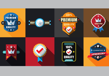 Free Flat Labels Badges Set Vector - Kostenloses vector #336863