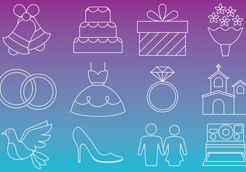 Wedding Thin Icons - бесплатный vector #336943