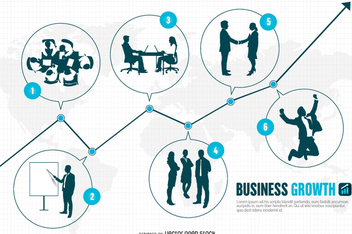 Entrepreneur business stages - Free vector #336993