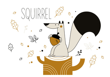 Free Squirrel Vector - Free vector #337013