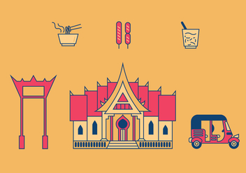 Bangkok Vector Illustrations - vector gratuit #337063