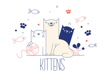 Free Kittens Vector - Free vector #337073