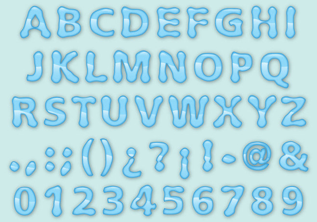 Water Font - Free vector #337083