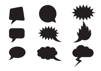 Free Speech Clouds Shapes Vector - Kostenloses vector #337093
