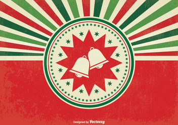 Retro Sunburst Christmas Illustration - Free vector #337103