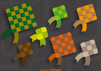 Colorful ketupat icons - Kostenloses vector #337153