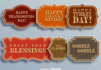 Thanksgiving day elements - Free vector #337193
