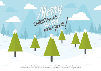Free Christmas Background Illustration with Typography - vector gratuit #337243