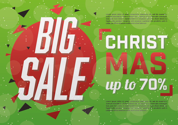 Free Christmas Sale Vector Background - Free vector #337253