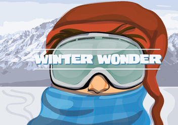 Free Winter Adventure Illustration Vector - Free vector #337273