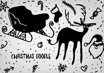 Free Christmas Doodles Vector Backgorund - Free vector #337333
