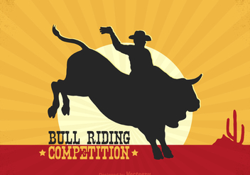 Free Rodeo Bull Rider Vector Poster - Free vector #337593