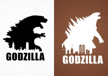 Godzilla Movie Poster Backgrounds Free Vector - Kostenloses vector #337703