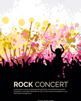 Rock concert crowd - Free vector #337763