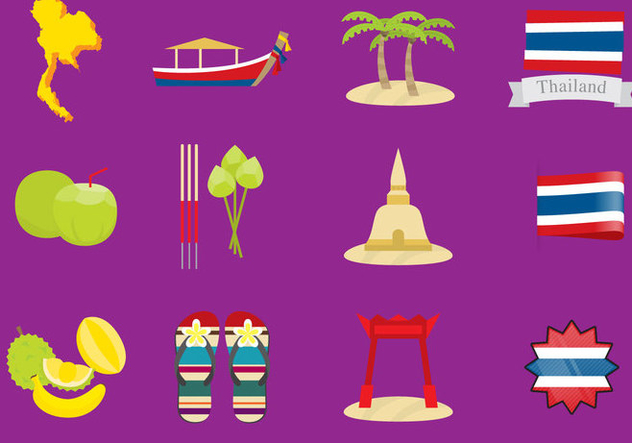 Thailand Icons - Free vector #337953
