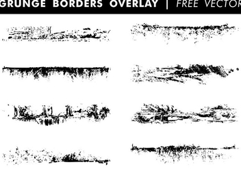 Grunge Borders Overlay Free Vector - Free vector #337983