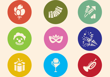 Party Icons - vector gratuit #338023