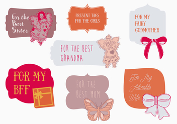 Free Present Tags Vector - Free vector #338043