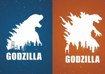 Godzilla Movie Poster Backgrounds Free Vector - vector gratuit #338073