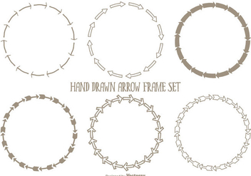 Hand Drawn Arrow Frames Set - Free vector #338083