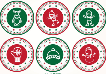 Christmas Stamp Set - Free vector #338153