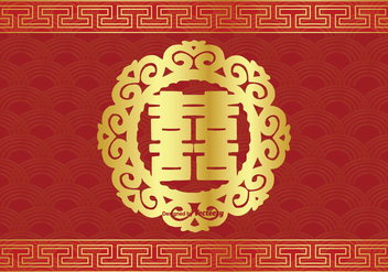 Chinese Double Happiness Symbol Illustration - Kostenloses vector #338173