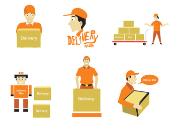 Delivery Man Illustration - vector gratuit #338333