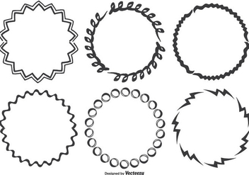 Hand Drawn Frame Set - Free vector #338373