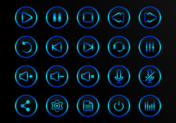 Buttons Multimedia Vector Icons - бесплатный vector #338383