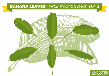 Banana Leaves Free Vector Pack Vol. 2 - Free vector #338403