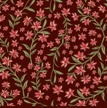 Floral brown and red background - vector gratuit #338463