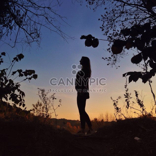 Girl in autumn evening - Free image #338543