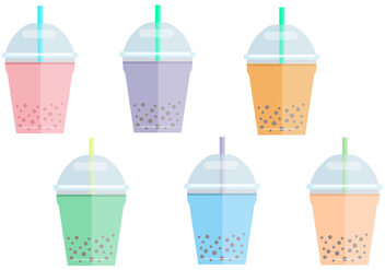 Bubble Tea Vectors - vector gratuit #338623