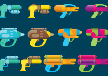 Water Guns - vector gratuit #338633