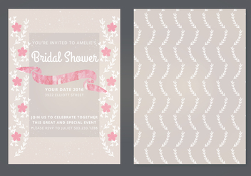 Vector Wedding Invitation - Free vector #338743