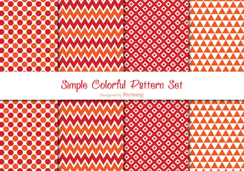 Colorful Pattern Set - vector gratuit #338823