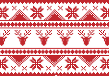 Pixilated Christmas Traditional Borders - vector gratuit #338863