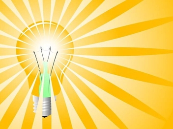 Yellow light bulb - Free vector #338943