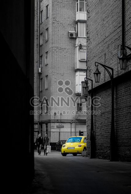 Yellow car in street - Free image #339143
