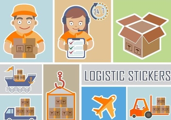 Delivery and Logistic Stickers - Kostenloses vector #339273