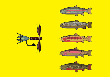 Fly Fishing Pack 2 - Kostenloses vector #339313