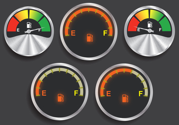 Fuel indicator vectors - бесплатный vector #339333