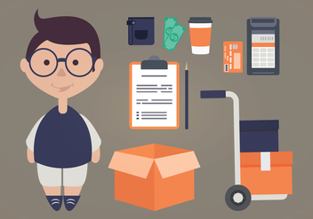 Vector Delivery Man - vector #339373 gratis