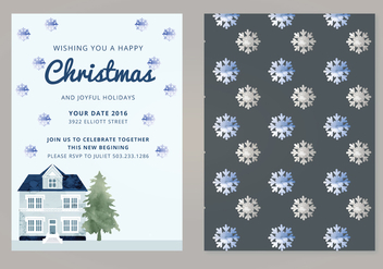 Vector Christmas Card - Free vector #339383