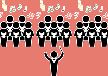 Free Choir Vector Illustration - vector gratuit #339403